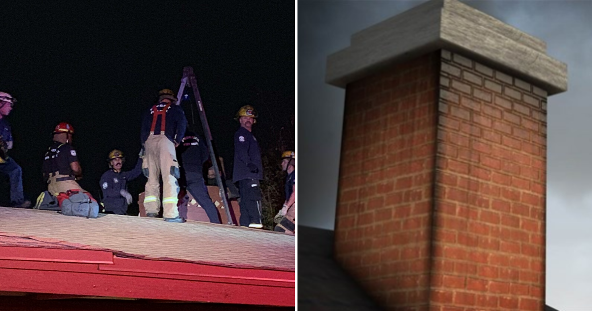 chimney5.png - Girl Rescued From Chimney After Coming Home Late And Trying To Sneak Back In