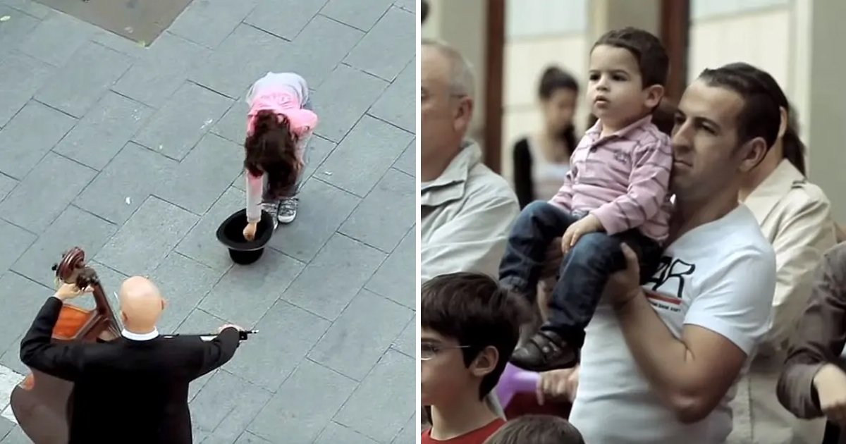 dsfsdfsdfs.jpg - A Little Girl Drops Money into a Street Performer's Hat – And Gets The Best Flash Mob In Return.