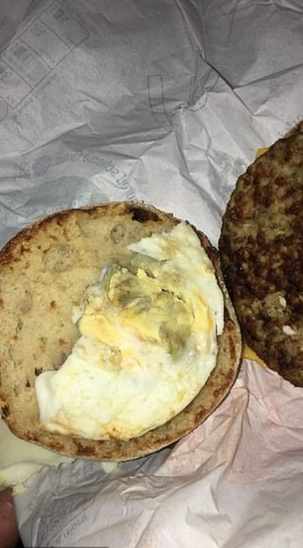 Furious McDonald's Customer Found 'Moldy' Eggs Inside Her ...