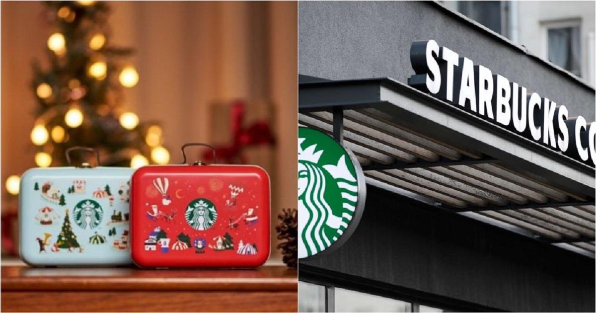 """kakaotalk 20191202 185010901.jpg - """"뭐야 너무 귀엽잖아ㅠㅠ?""""....스타벅스,오늘 2일 크리스마스 한정판 '쿠키 틴백' 출시"""