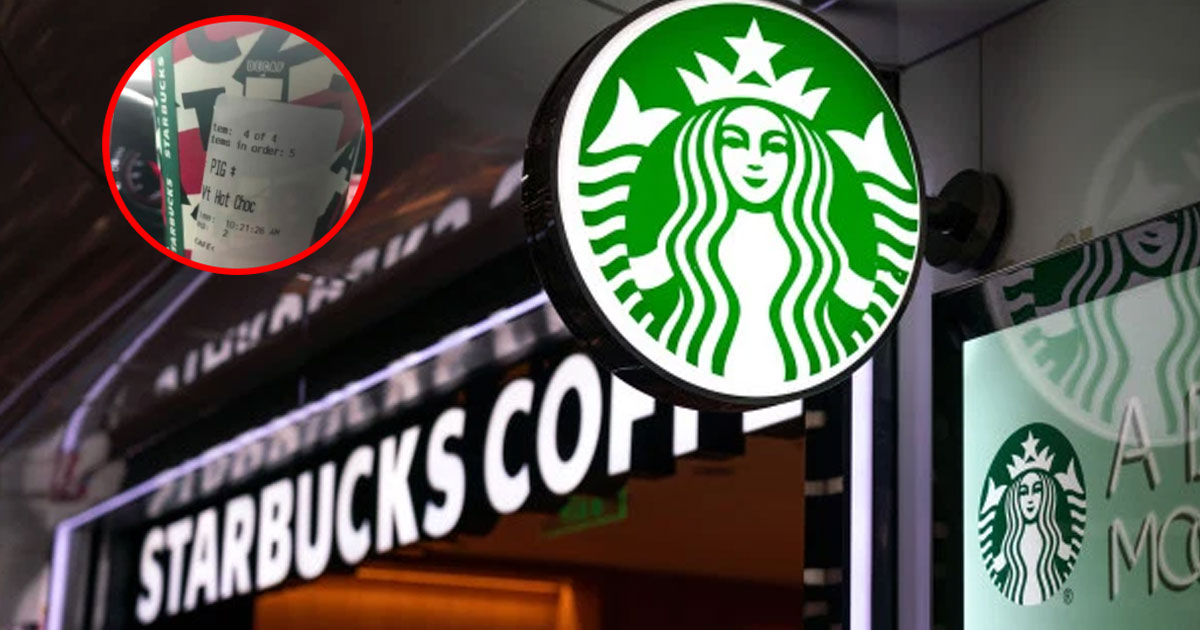 starbucks employee fired for writing pig on oklahoma police officers coffee order.jpg - Starbucks Employee Dismissed For Writing 'Pig' On A Police Officer's Coffee Order