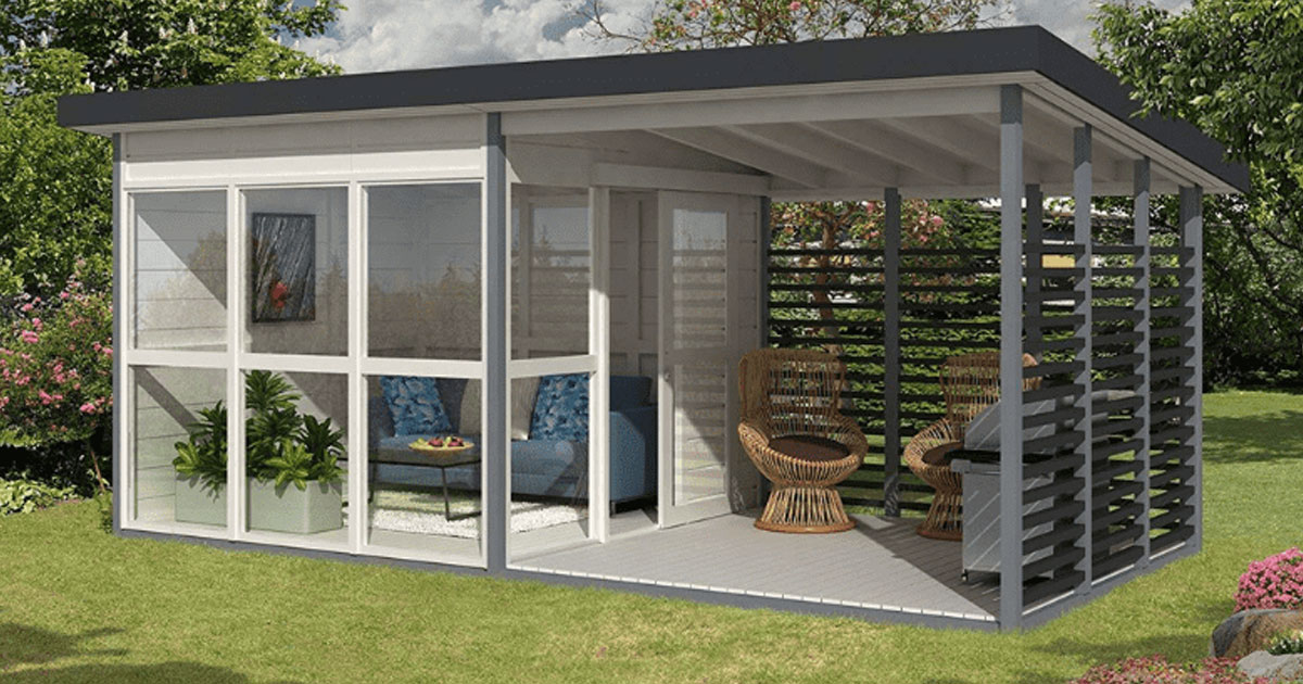 amazon diy backyard house.jpg - Make Your Own Backyard Guest House In Just 8 Hours Using This Amazon Kit