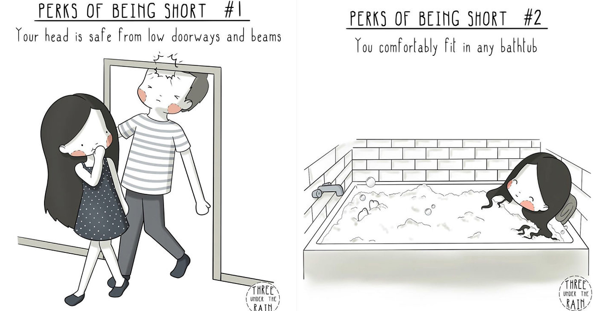 untitled 1 68.jpg - Talented Artist Illustrated The Perks Of Being Short
