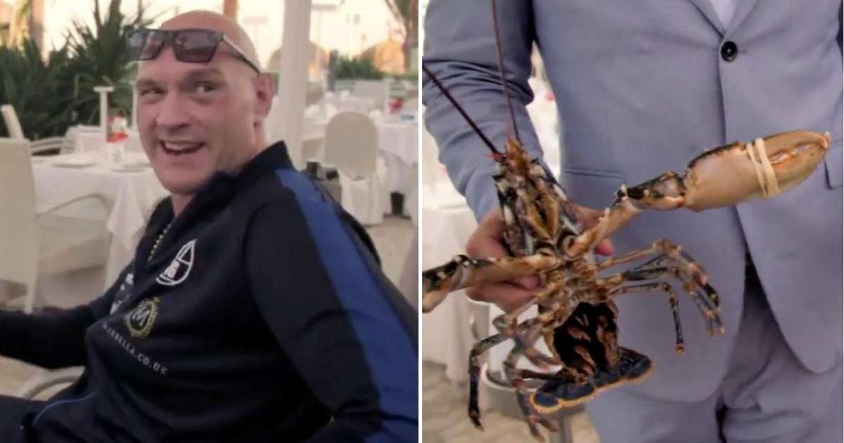 5 66.jpg - Tyson Fury a payé 194 € pour remettre deux homards dans la mer