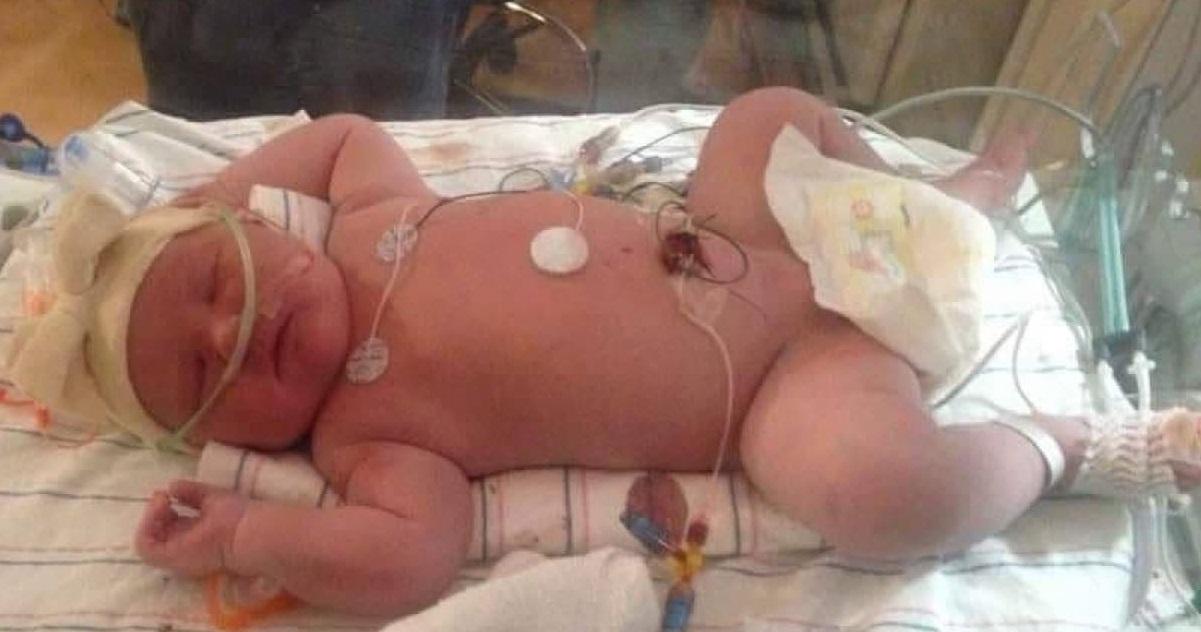 bebe 1.jpg - Accouchement douloureux: Le record du bébé le plus lourd vient d'être battu !