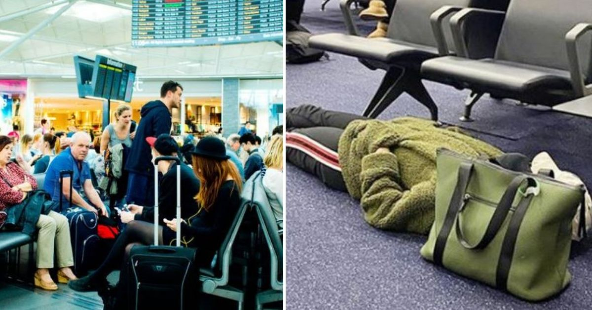 d2 5.jpg - This Woman Passenger was Criticized on Social Media for Sleeping Inappropriately at The Airport