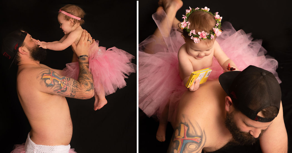 gsgdgsd.jpg - Amazing Photo-shoot Of  A Father and Daughter In Tutus Going Viral