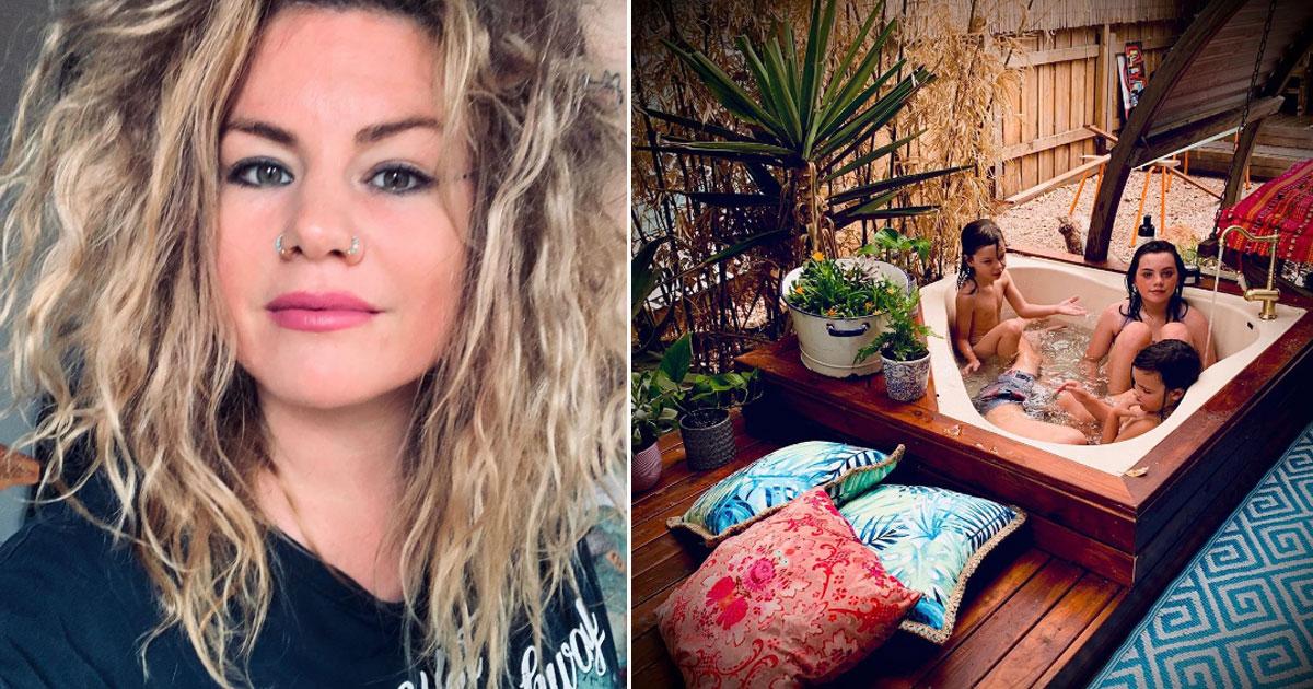 mother slammed creating diy spa bathtub.jpg - Mother Criticized For Creating A £270 DIY Spa Bathtub In Her Back Garden For Her Children