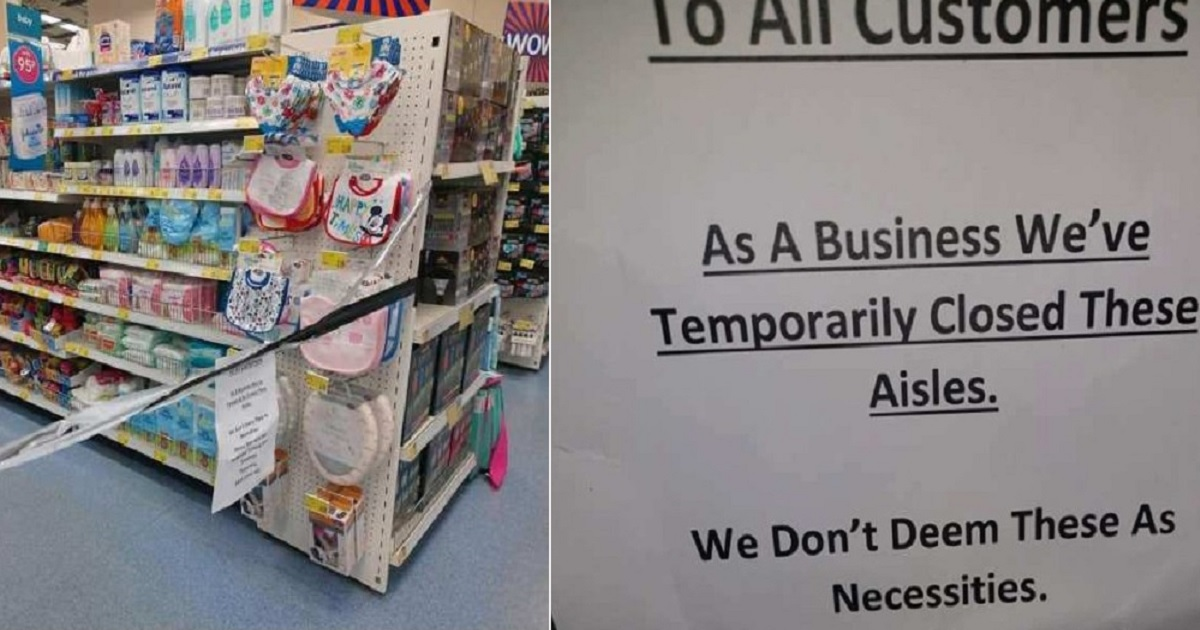 """b3 3.jpg - Parents Are Livid After A Supermarket Closed The Baby Products Section Because They're """"Non-Essential"""""""