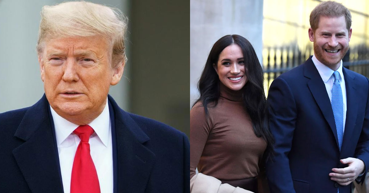 donald trump announced united states will not pay for harry and meghans security protection.jpg - Donald Trump Announced United States Will Not Pay For Harry And Meghan's Security Protection