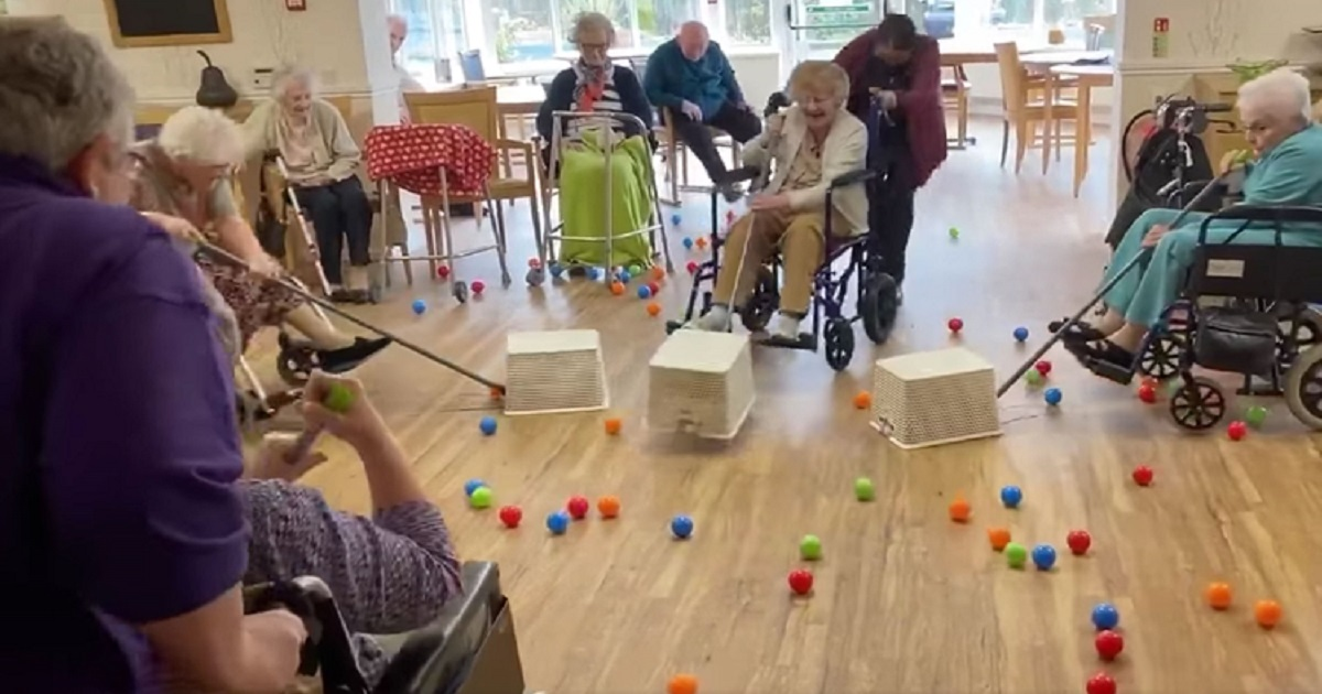 "e3 1.jpg - Nursing Home Residents In Lockdown Played Live Version Of ""Hungry Hungry Hippos"""