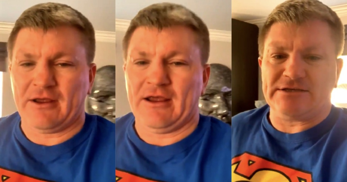 h4 1.jpg - Ricky Hatton Fans Were Distracted By The Background Of His Comic Self-Isolation Video