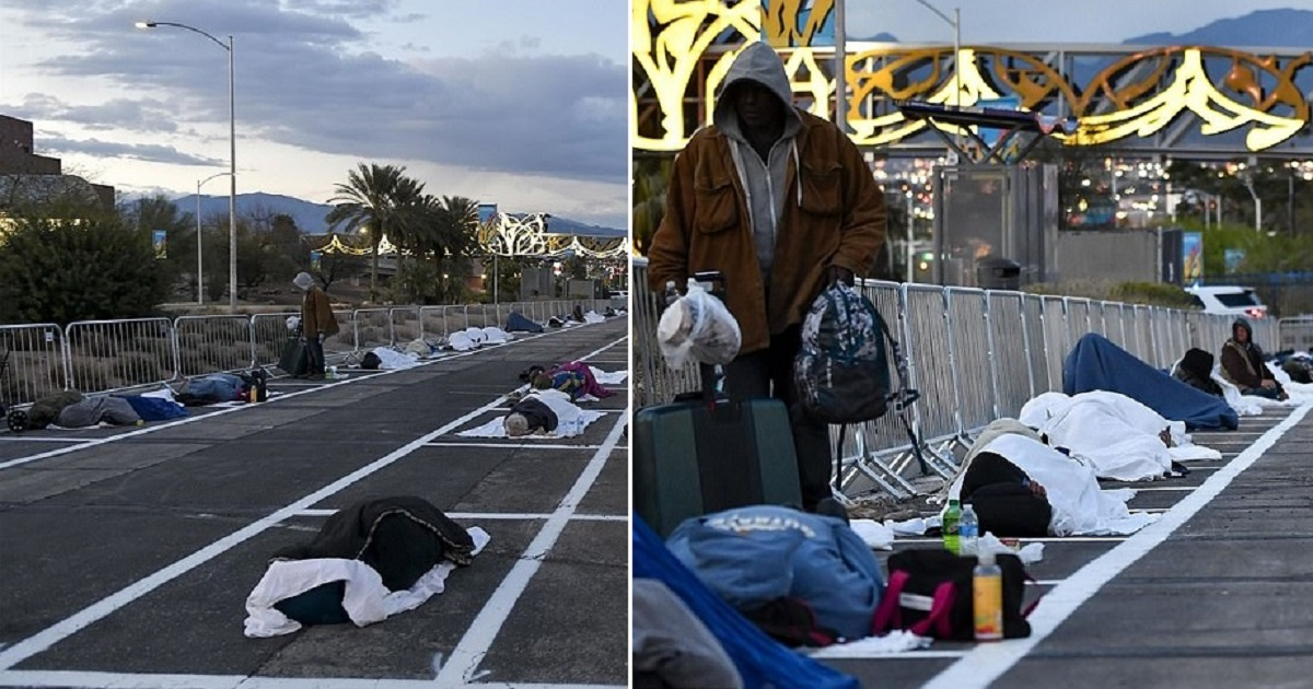 h4 2.jpg - Homeless Forced Into Open-Air Parking Lot After The Shelter Closed Due To A Resident Catching Coronavirus