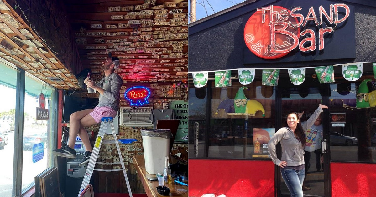 b3 2.jpg - A Bar Owner Stripped Walls Of $3,700 Worth Of Bills To Pay To Employees During Shutdown