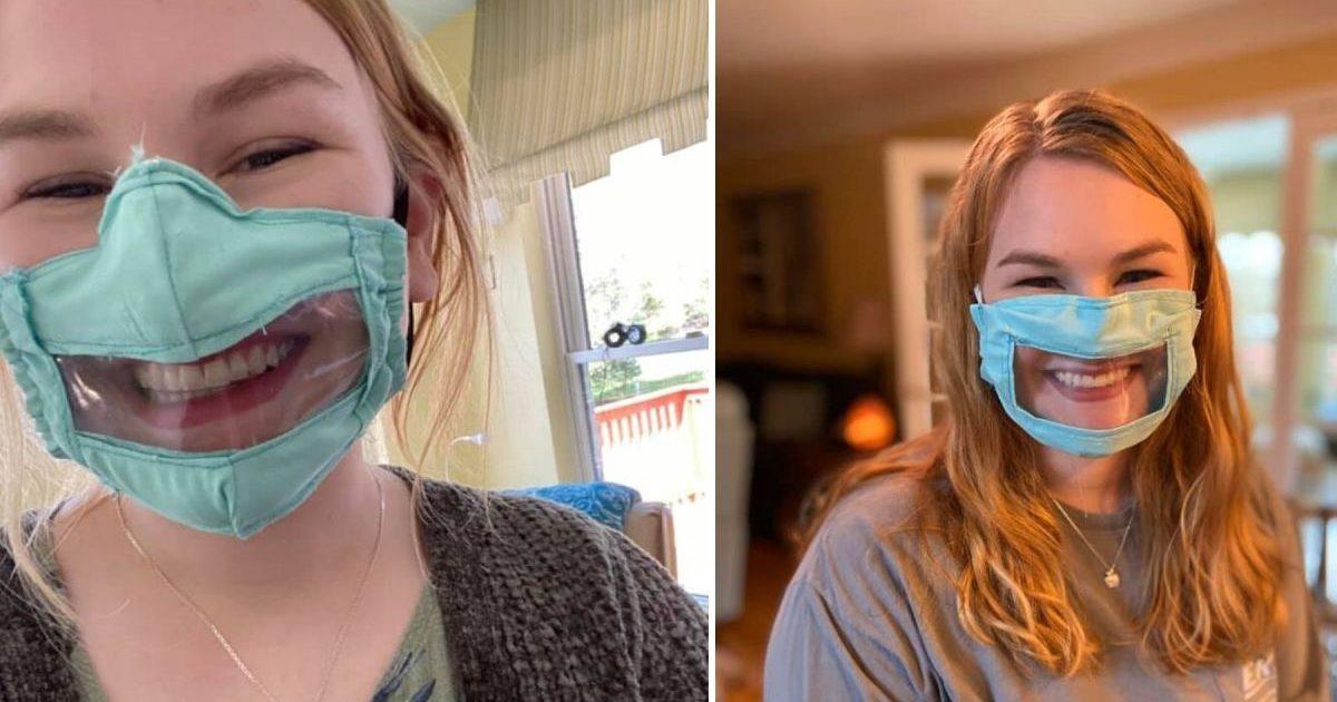 download 3 e1586023007885.jpeg - Solidarité : Une étudiante américaine fabrique des masques pour les personnes sourdes et malentendantes