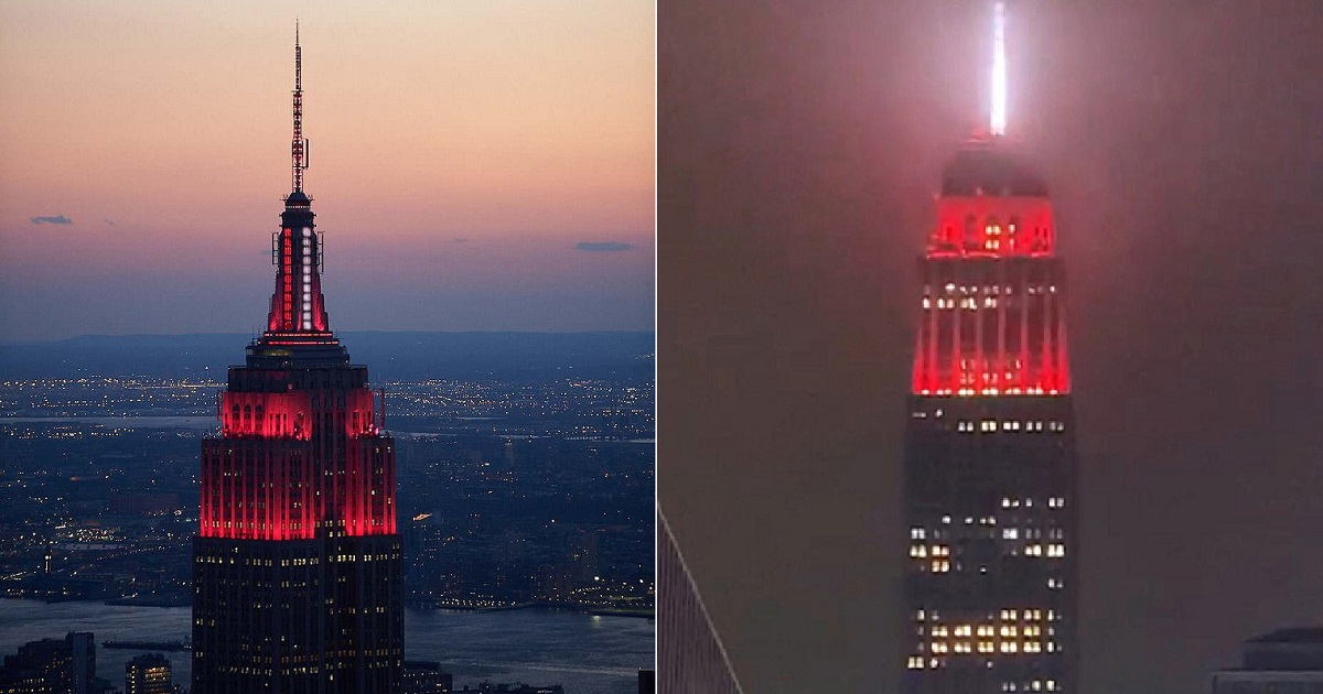 e3 1.jpg - Empire State Building Pays Touching Tribute To Healthcare Workers With Flashing Red Beacon Each Night