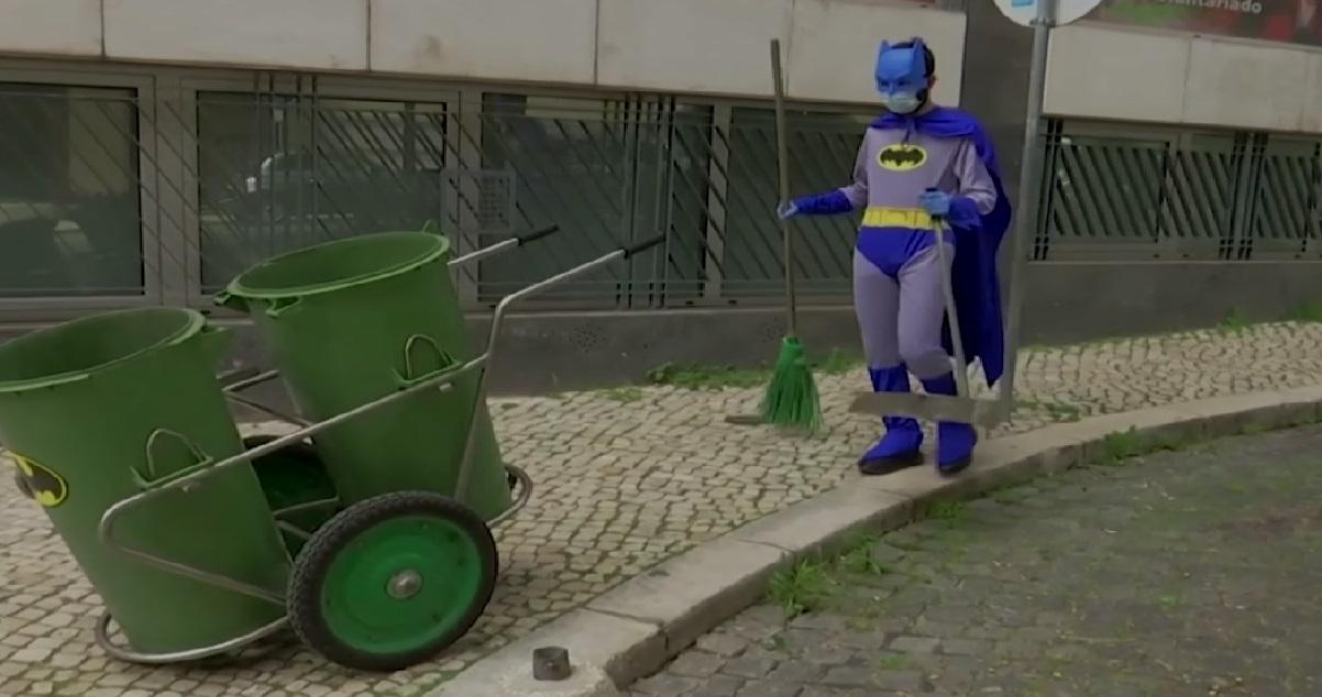 engie 1.jpg - Lisbonne: les éboueurs et les livreurs portent des costumes de super-héros