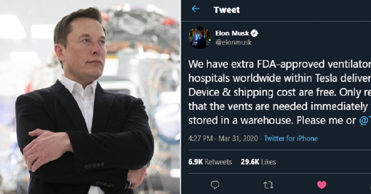 """m3.jpg - Elon Musk Ready With Free """"FDA-Approved"""" Ventilators For Hospitals Within Tesla Delivery Regions"""