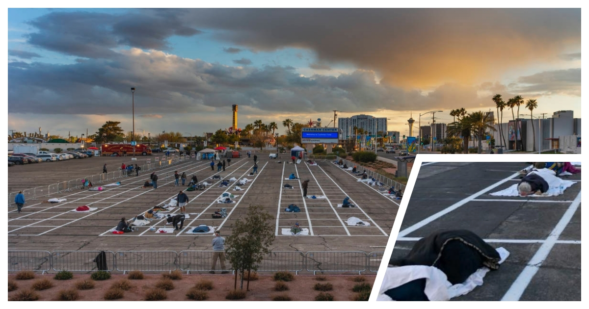 parking lot cover.jpg - In Las Vegas Homeless Are Sleeping in Parking Lots While Keeping a Social Distance