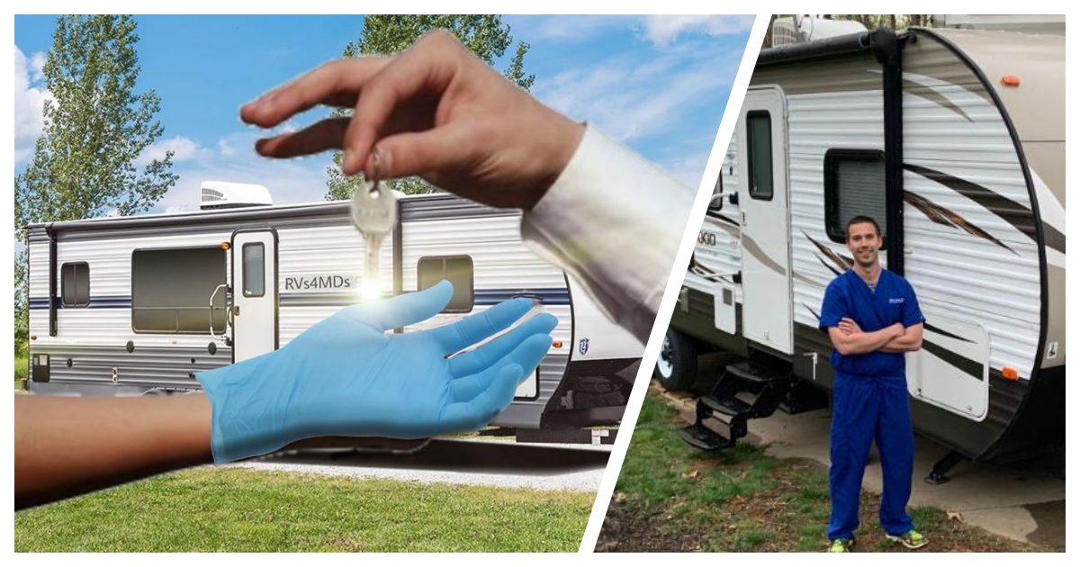 rvs cover.jpg - Healthcare Workers Can Rest In RVs After Long Shifts Thanks to A Facebook Group