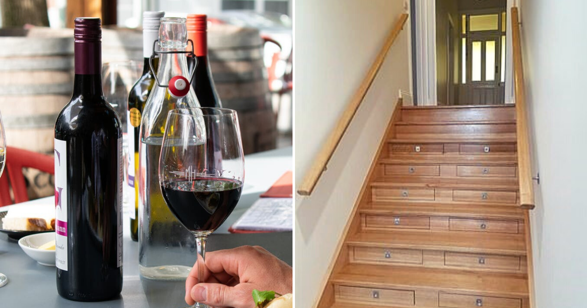 stairs5.png - 58-Year-Old Man Transformed Staircase Into A WINE Cellar That Can Hold 156 Bottles