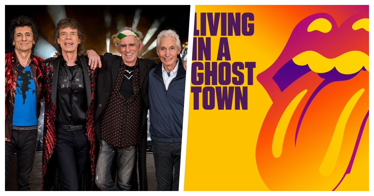 """stones cover.jpg - The Rolling Stones Releases A New Single Titled """"Living In A Ghost Town"""""""