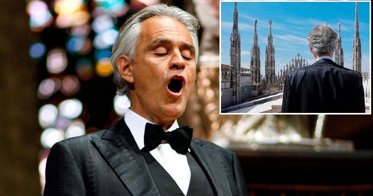 tlmd bocelli foto e1586794174515.jpg - Pâques : Andrea Bocelli a donné un concert émouvant depuis la cathédrale du Duomo à Milan