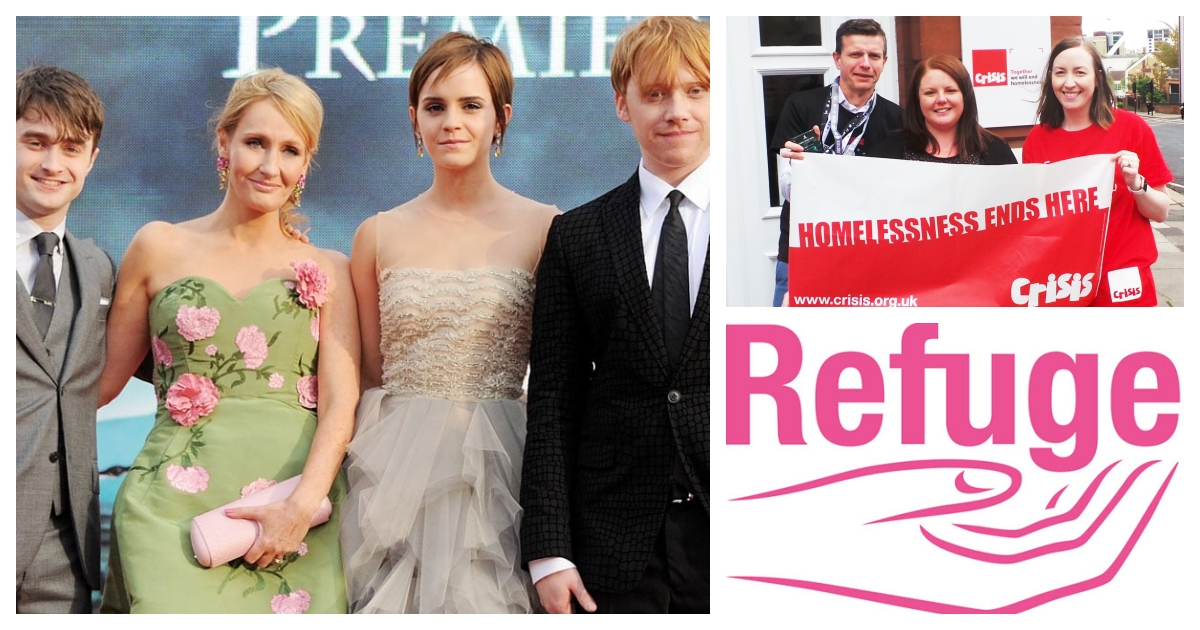 collage 1.jpg - J. K. Rowling Donates £1 million To Charity