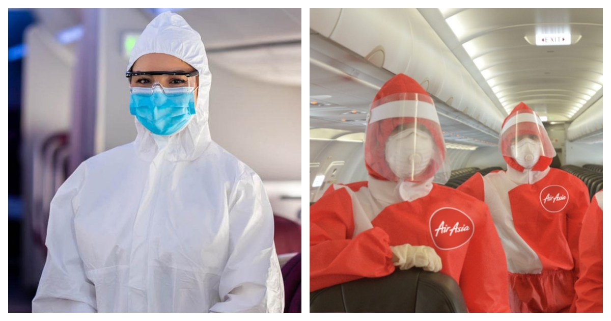 collage 46.jpg - Flight Attendants for Qatar Airways Will Wear Hazmat Suits From Now On