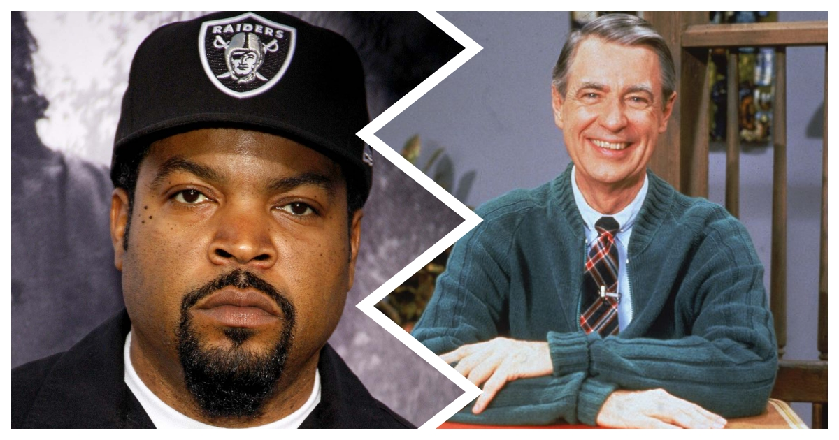 collage 53.jpg - Rapper Ice Cube Sparks Controversy Online After Revealing Mr. Rogers Sued Him in 1990