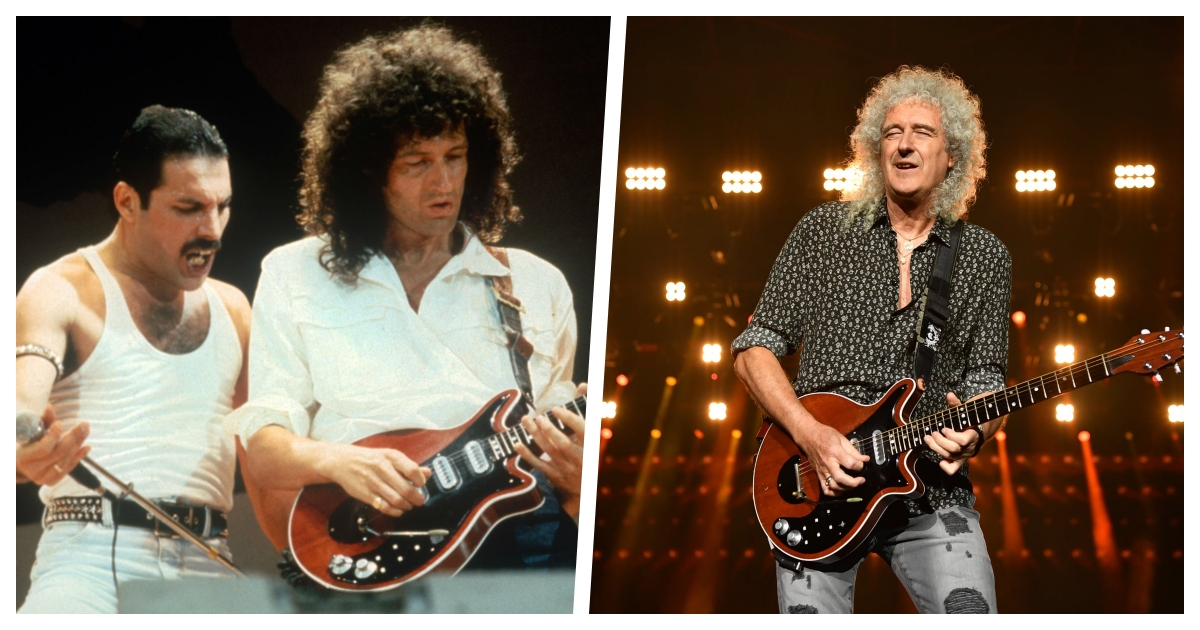 collage 62.jpg - Guitarist Brian May of Queen Fame Said He Had A Heart Attack And Was Taken to A Hospital