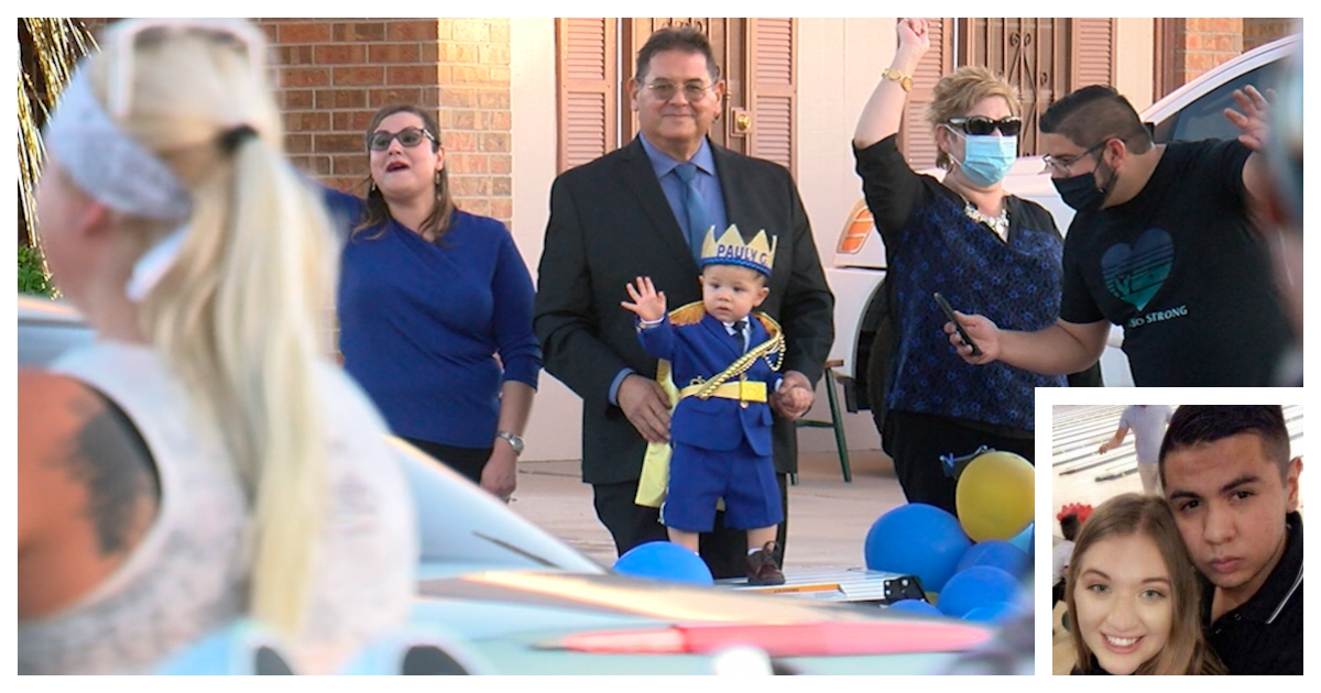 collage 64.jpg - Hundred of El Paso Residents Join Parade to Celebrate the First Birthday of a Boy Who Lost Both Parents In a Shooting