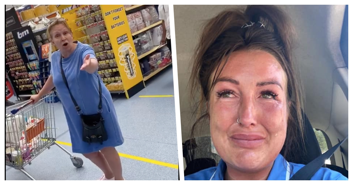 collage 65.jpg - UK Care Worker Alleges She Was Verbally Abused Just Because She Was In Uniform When Shopping