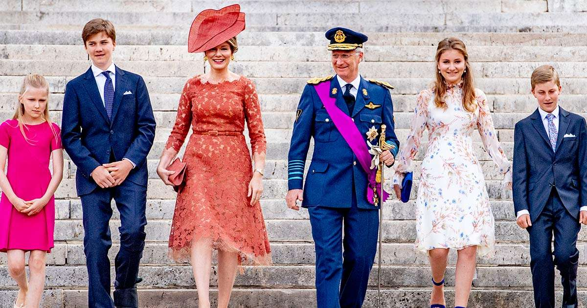 ec8db8eb84ac 3 4.jpg - King Philippe Takes Princess Eleonore To School As Belgium Lifts Social Distancing