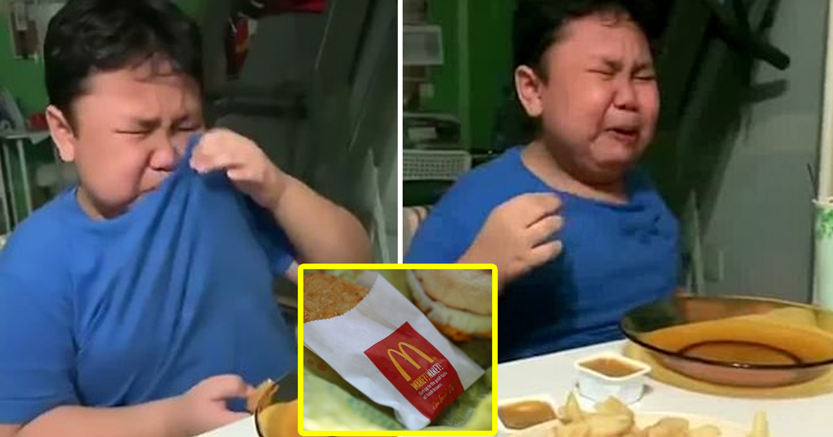 gsdgsdg 1.jpg - 9 -Year-Old Boy Weeps With Joy As He Tucks Into His First McDonald's Meal After Months Of Lockdown