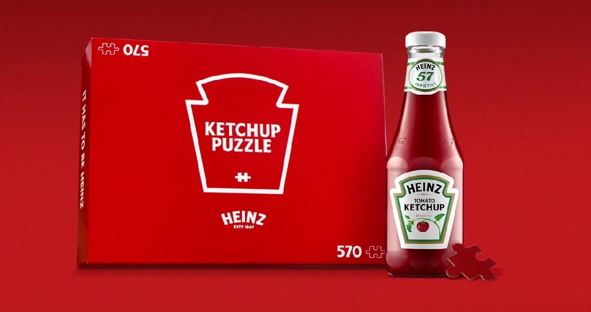 heinz 1.jpg - Ketchup: Heinz vient de dévoiler un puzzle de 570 pièces complètement rouge !