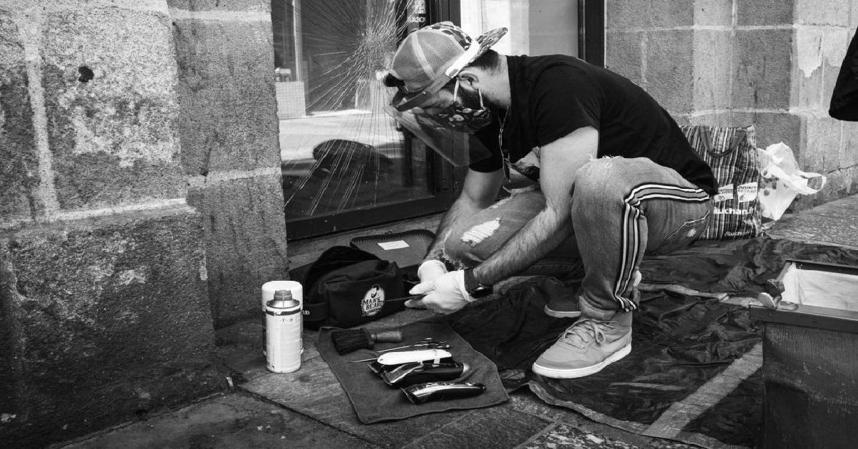 kevin.jpg - Nantes: Kevin, le coiffeur maraudeur a repris du service auprès des sans-abri !
