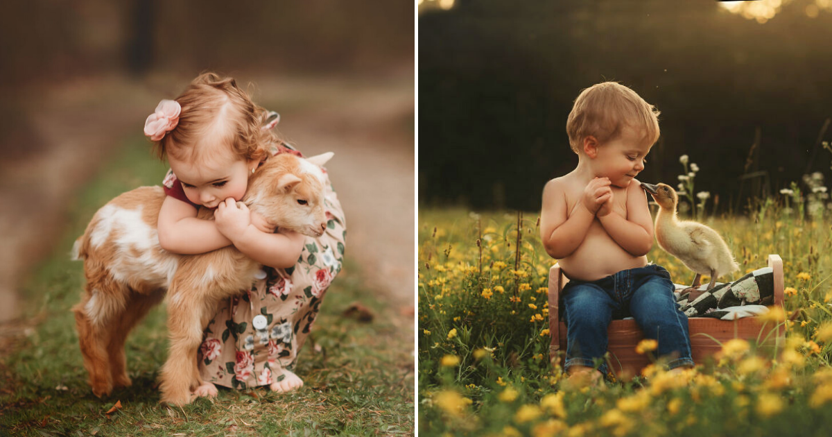 kids14.png - Woman Takes Photos Of Heartwarming Moments Of Children With Animals, 10+ Pics