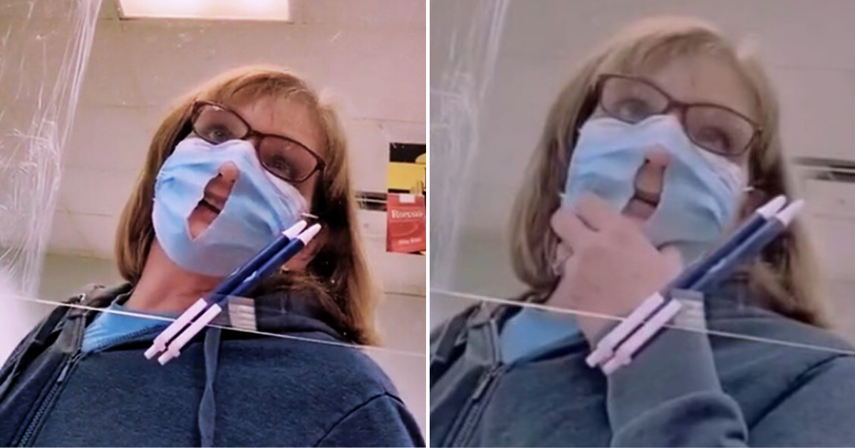 mask5.png - Woman Cut A Hole In Her Face Mask Because It 'Makes It Easier To Breathe'