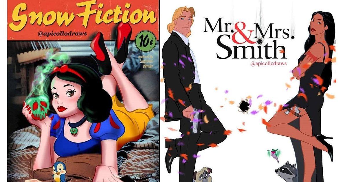 von 2 e1588620414844.jpg - 10 Affiches de films iconiques retouchées avec nos personnages Disney préférés