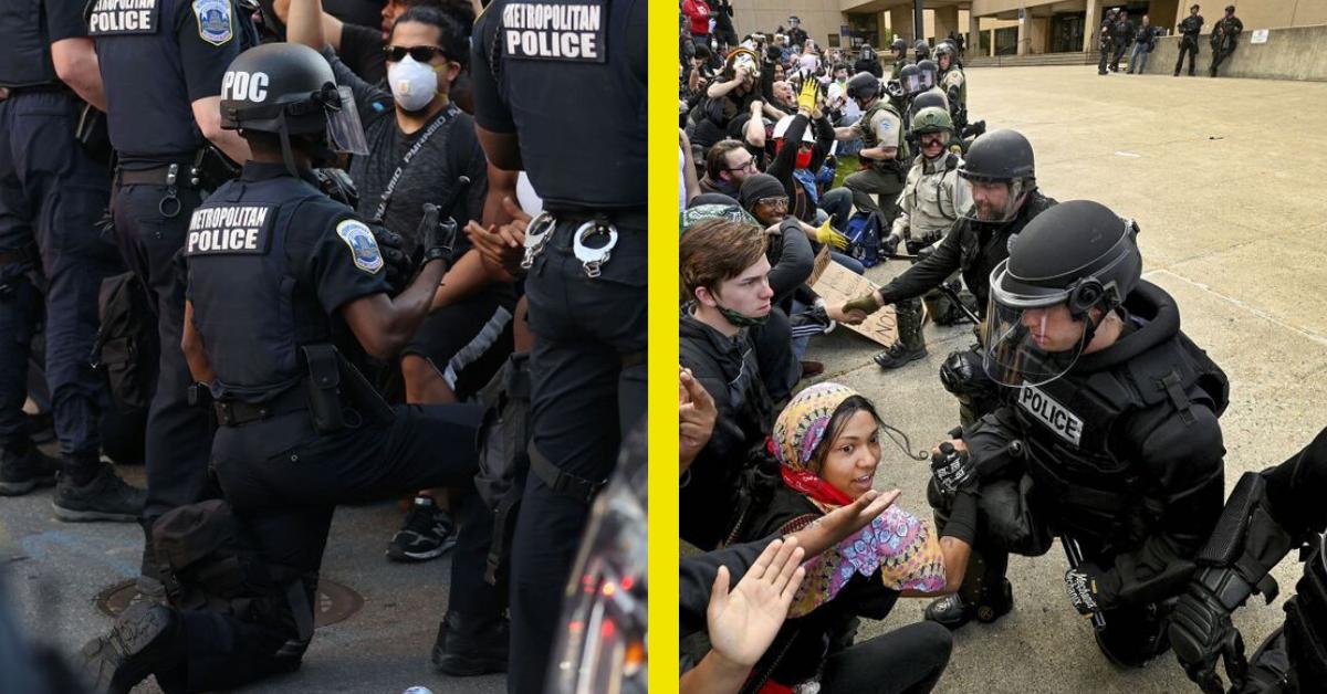 september 5 2016 arcadia football field 6 00 pm.png - Photos: les policiers américains s'agenouillent avec les manifestants