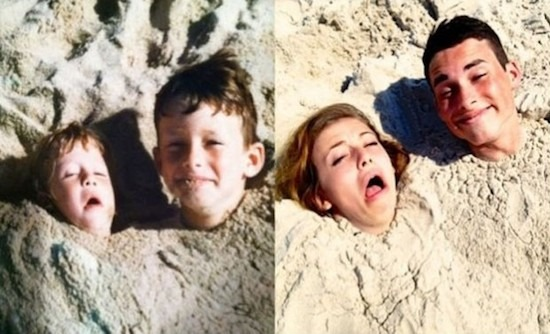 幼い時の写真を発見した大人の正しい姿勢 - 基づいする[面白い写真...