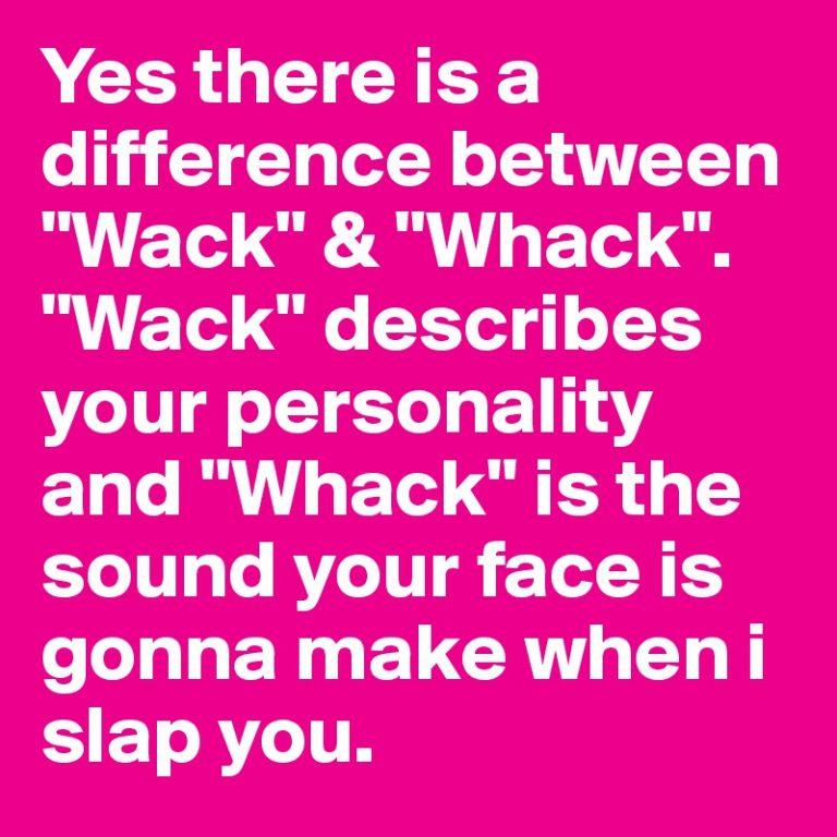 wack slang synonym