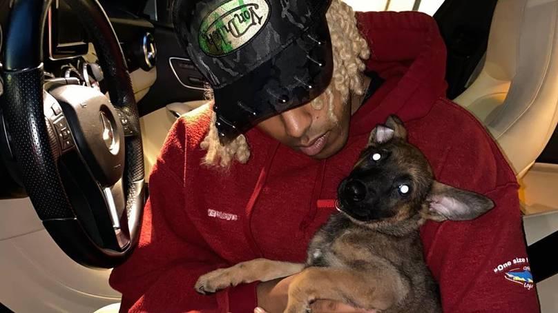 man adopts puppy