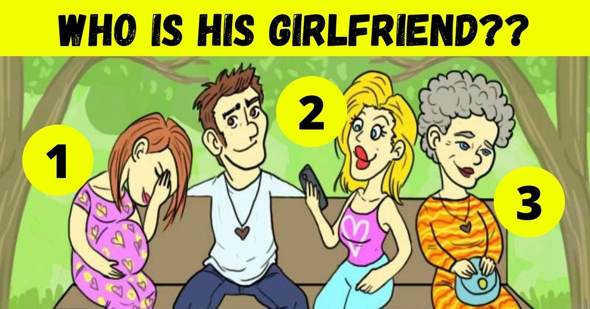 who is his girlfriend.jpg - How Fast Can You Find Out Who Is The Man's Girlfriend? 90% Of People Can't See The Hidden Clue!