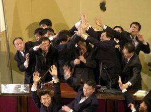 전세계의 싸움질 하는 국회의원들