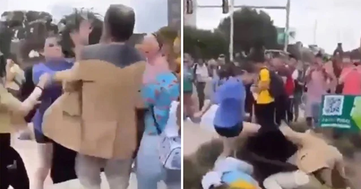 1 1 1.jpg - Student KNOCKS Male Teacher Down To The Ground For Carrying A 'Women Belong In The Kitchen' Sign
