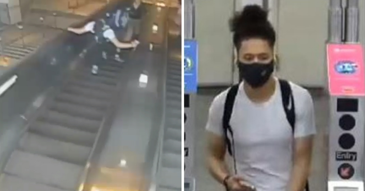 5 46.jpg - Heartless Man Who Viciously KICKED Woman Down Subway Station Escalator In Brooklyn Arrested