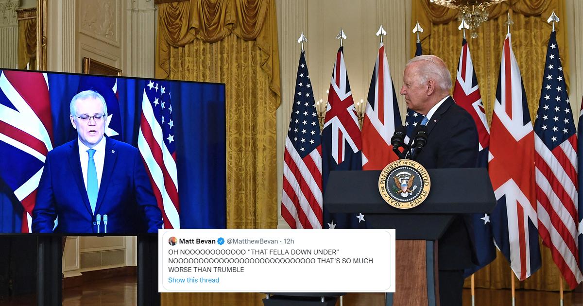 "a1.jpg - ""That Fella Down Under""- Biden Humiliates Himself AGAIN By Forgetting Australian Prime Minister's Name"