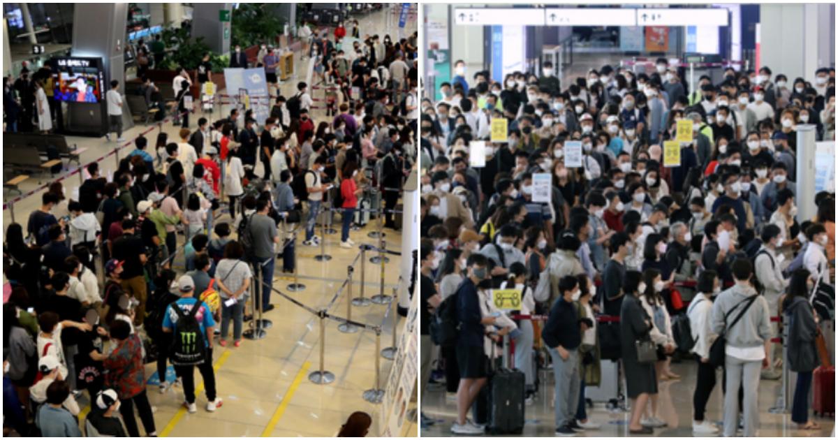 "collage 457.png - ""옛날사진 아닙니다 최근 모습입니다""… 공항마비 될 정도로 사람 모인 김포공항 모습"